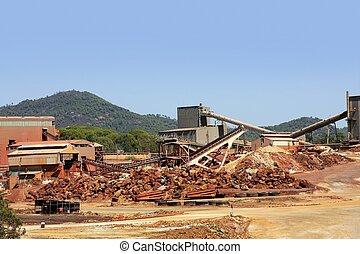 kopanie, Metal, na wolnym powietrzu, kopalnia, Riotinto