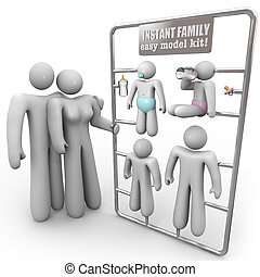 Instant Family Model Kit - A mother and father consider...