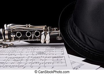 Low key shot of a clarinet