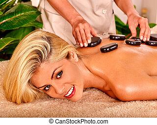 mujer, obteniendo, masaje, .,