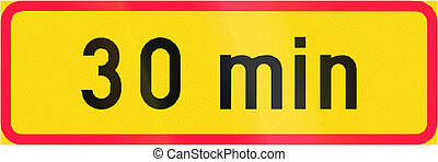 For Time Span In Finland - Finnish additional road sign -...