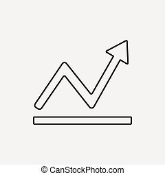 financial stock line icon