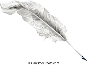 Classic feather quill illustration - An illustration of a...