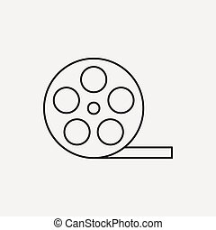 video tape line icon