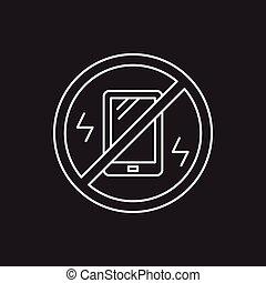 turn into vibration line icon
