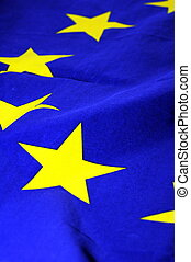 eu or european union flag in blue with yellow stars...