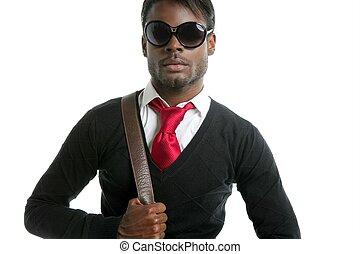 africano, Moda, joven, hombre, guapo