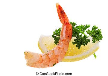 limón, camarón