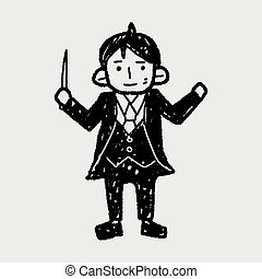 conductor doodle