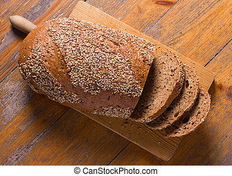 Whole wheat bread - A rustic whole wheat bread and some...