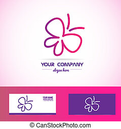 Butterfly spa beauty logo - Vector company logo element...