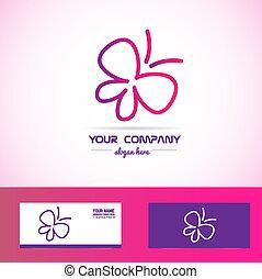 mariposa, balneario, belleza, logotipo