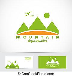 Green mountain logo - Vector company logo element template...
