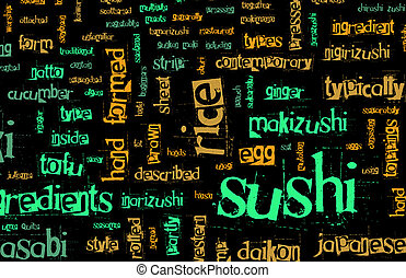 Sushi Menu Background for Japanese Food Meal