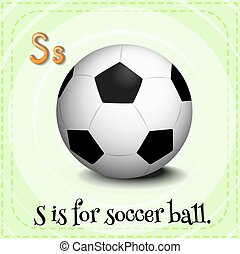 Soccerball - Flashcard letter S is for soccer ball