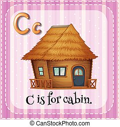 Cabin - Flashcard letter C is for cabin
