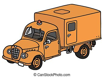 Old service truck