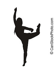 rhythmic gymnastics - the silhouette of a rhythmic...