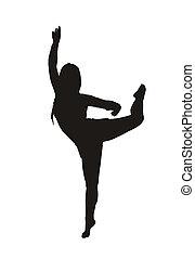 rhythmic gymnastics - the silhouette of a rhythmic...
