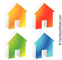 Icon(s) for house, apartment, rent, home, homepage, housing...
