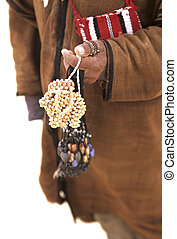 Tunisian man - Traditionally dressed man near the outskirts...