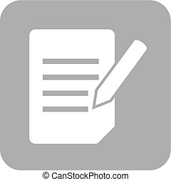 Assignment, book, education icon vector image. Can also be...