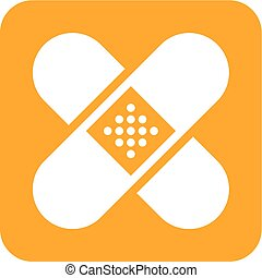 Band Aid - Band, aid, medical, bandage icon vector image....