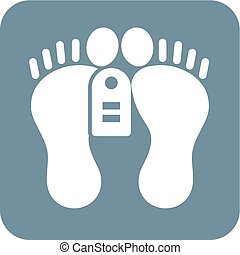 Dead Person - Feet, tag, dead, dead person icon vector image...