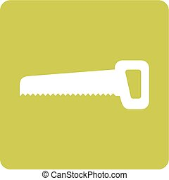 Handsaw, equipment, blade icon vector image. Can also be...