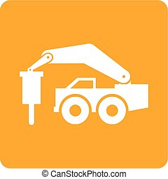 Rock Breaker - Rock breaker, bump, construction, machinery...