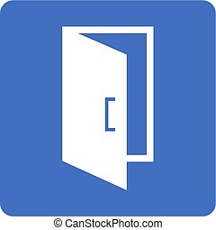 Open Door - Door, entrance, exit icon vector image Can also...