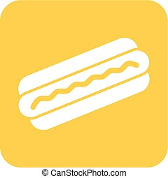 Hotdog, sausage, fries icon vector image Can also be used...