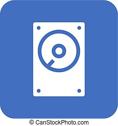 Hard Disk - Hard disk, drive, hdd icon vector image Can also...