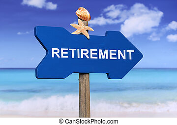 Retirement on the beach in summer vacation - Retirement on...