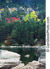 hidden lake in Soria