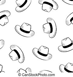 hats, seamless background - Hats, seamless background,...