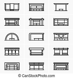 Bus stops - Set of Bus stops