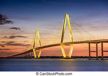 Ravenel Bridge - Charleston, South Carolina, USA at Arthur...
