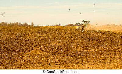 spring plowing fields