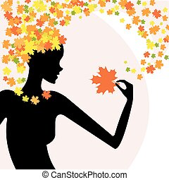 Fashion beauty nature - Beautiful silhouette of the girl...