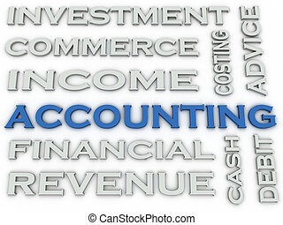 3d image Accounting issues concept word cloud background