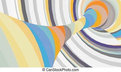 Multicolored motion torus Loop animation