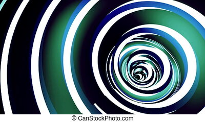 Rotated twisted blue tunnel.
