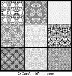 Set of Abstract wallpaper. Seamless background for retro design