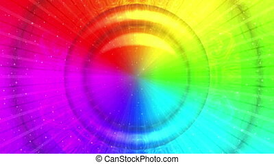 Rainbow background, Seamless Loop