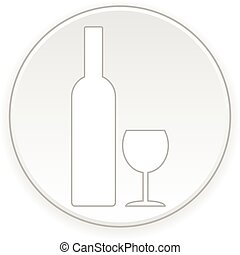 Bottle and glasse button.