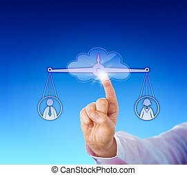 Assessing A Female And A Male Worker In The Cloud -...