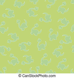 Dinosaurs background - Seamless ornament for background,...