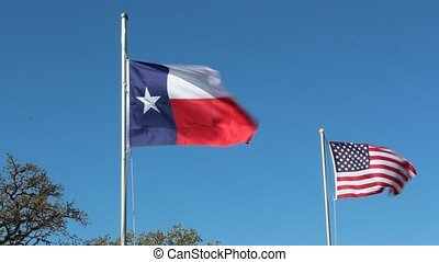 Texas and America Flag - This video is up an America Flag...