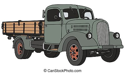 Old truck - Hand drawing of an old lorry - not a real model